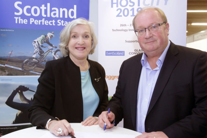 TEQ CEO Leanne Coddington & Paul Bush OBE, VisitScotland's Director of Events