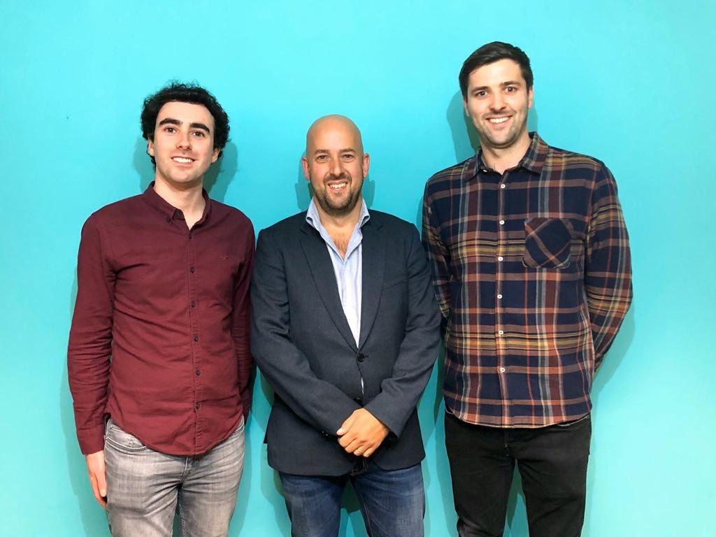 TickX - Co-founder & CTO Sam Coley (left), Chairman Laurence Marlor (centre), co-founder & CEO Steve Pearce (right)