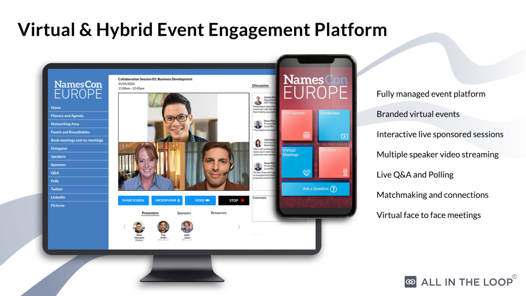 Virtual Event Platform By All In The Loop Event Industry News
